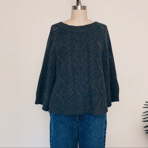 Anthropologie Knit Green Sweater